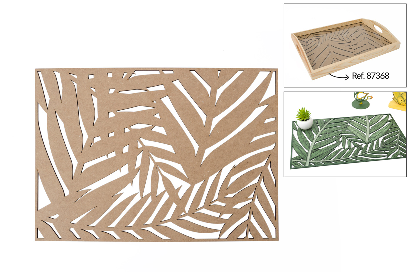 SET 2 SHEETS  45X35X0.3CM MDF