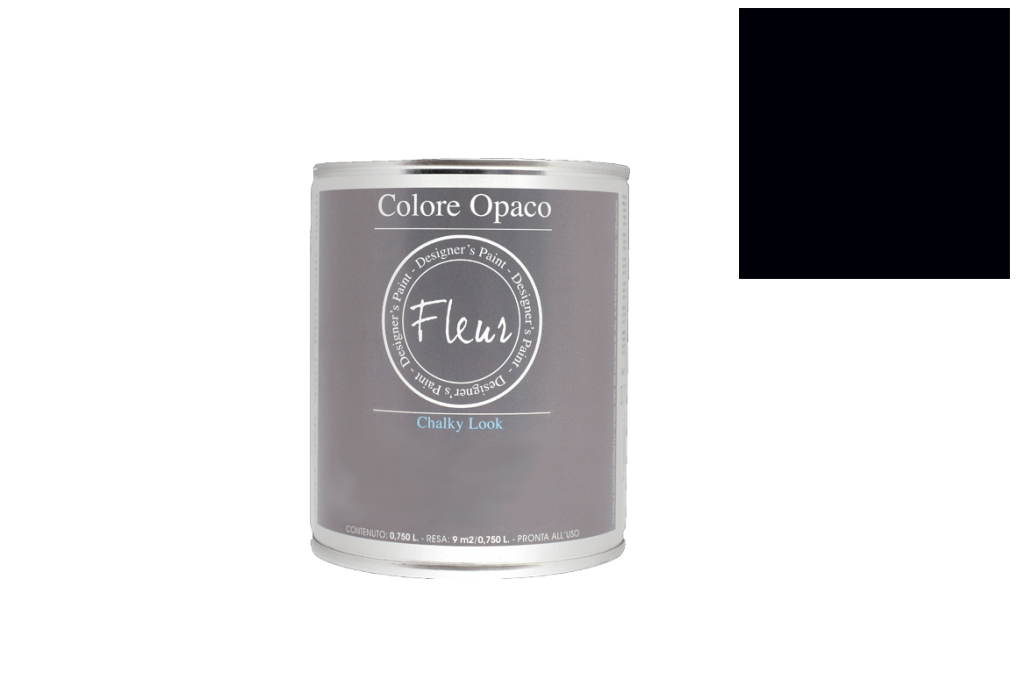 FLEUR PAINT 750ML CHALK LOOK F77 BLACK