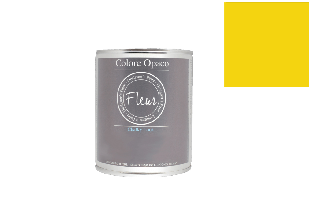 FLEUR PAINT 750ML CHALK LOOK F40 PRIMARY YELLOW