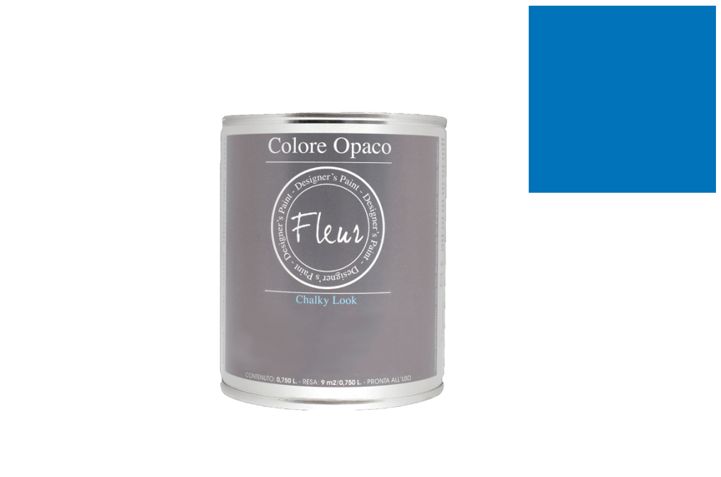 TINTA FLEUR 750ML CHALK LOOK F64 PRIMARY CYAN