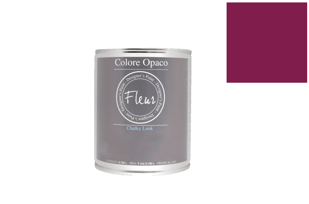 FLEUR PAINT 750ML CHALK LOOK F28 PRIMARY MAGENTA