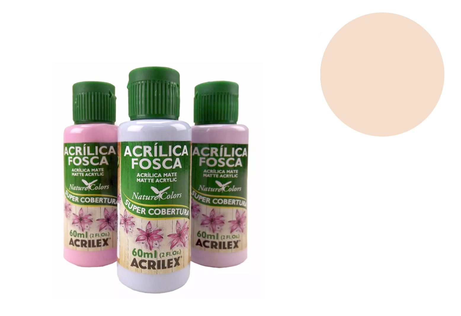 TINTA ACRILICA 60ML NATURE COLORS AREIA 03560817 ACRILEX