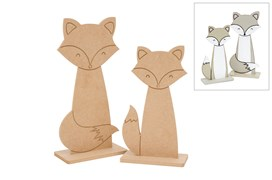SET 2 RAPOSAS C/BASE 23.7X40X1.2CM - 25.4X50X1.2CM MDF