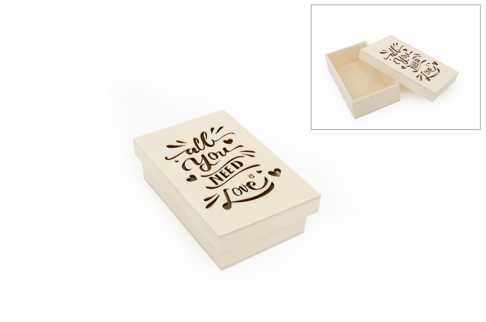 CAIXA ALL YOU NEED IS LOVE 14X9X4CM