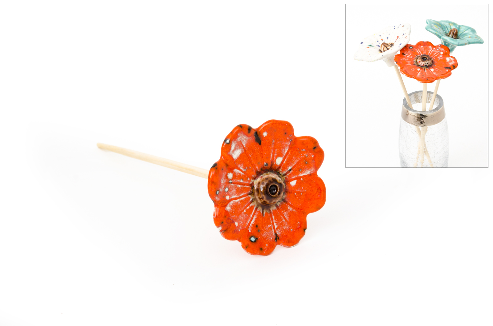 FLOWER ORANGE  26CM