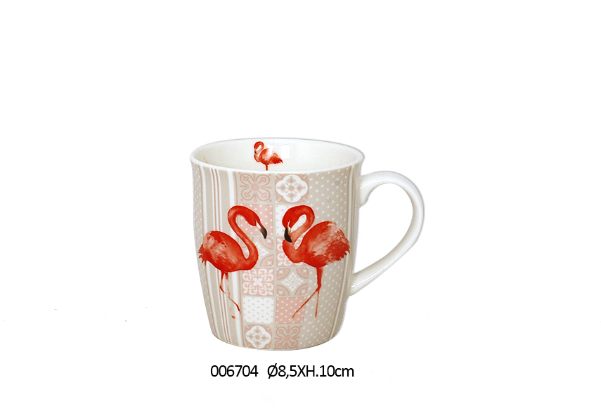 MUG 10CM D.8.5CM  325ML FLAMMY