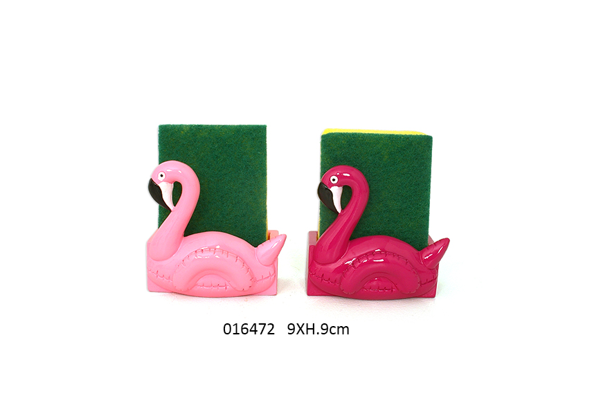 SUP+ESPONJA FLAMINGO 9X6.5X9CM FLAMMY