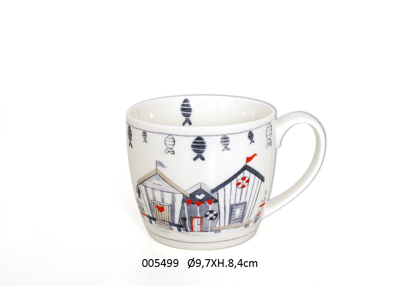 CANECA D.9.7 X 8.4CM 380ML WAVE