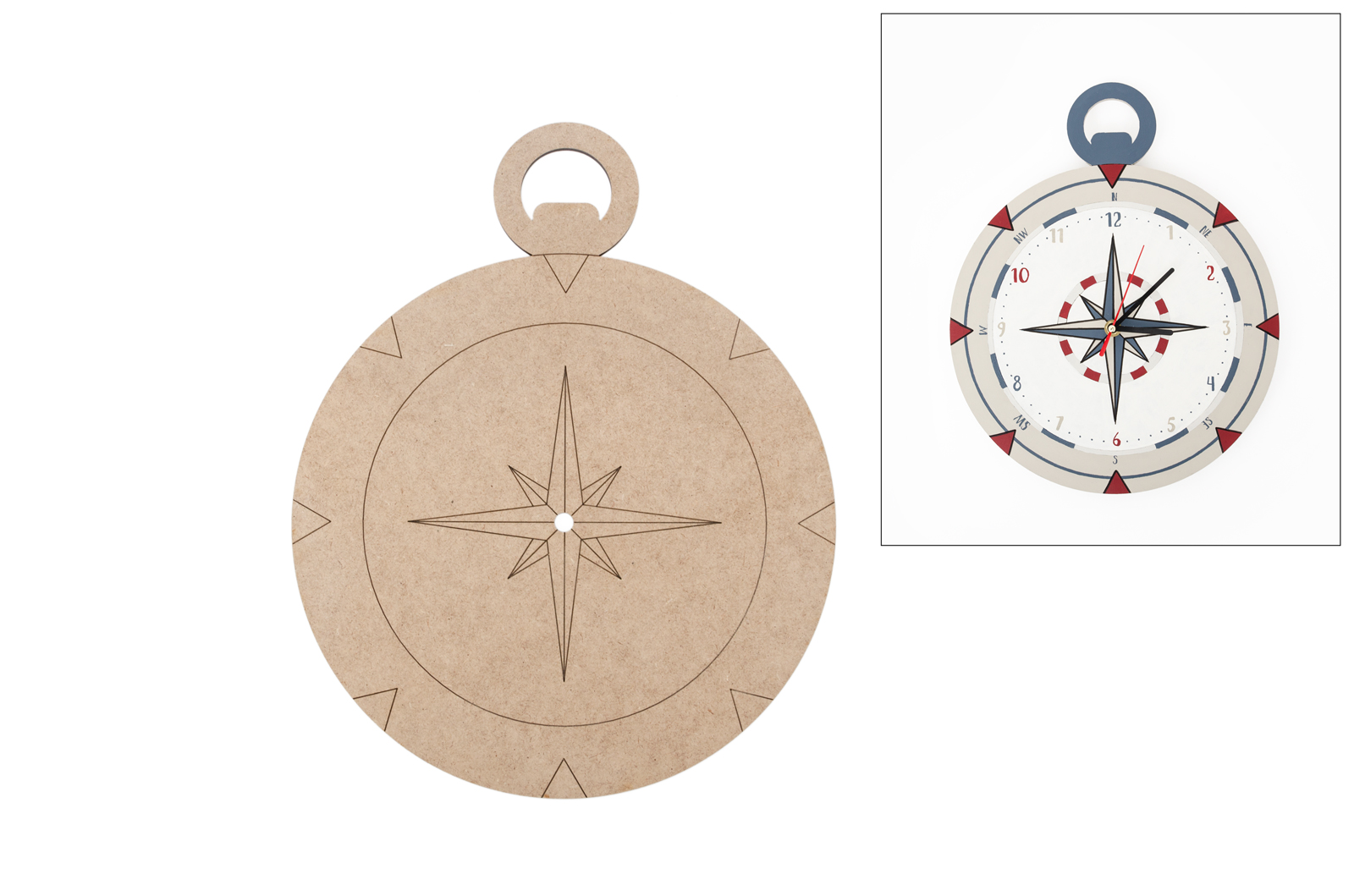 COMPASS  APLICATION FOR WATCH 27.8X35X0.5CM MDF