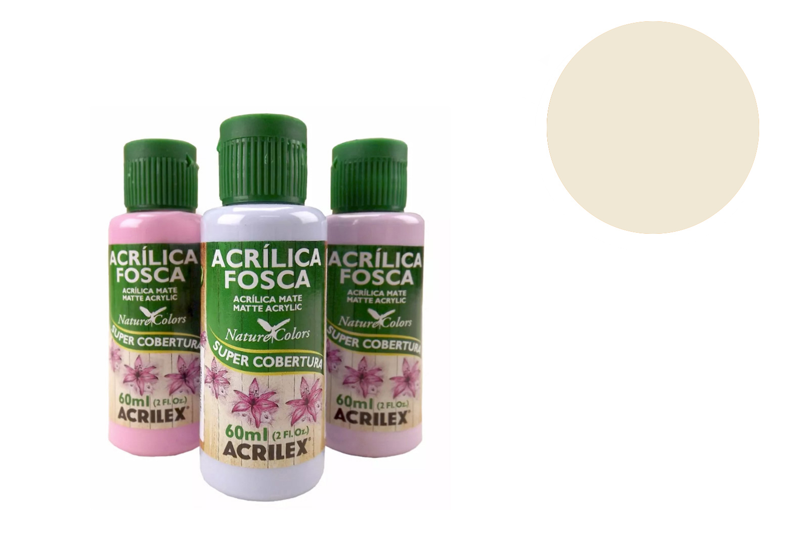 TINTA ACRILICA 60ML NATURE COLORS SAARA 03560835 ACRILEX