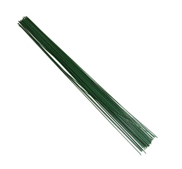 WIRE 30CM X 0.8 MM  GREEN