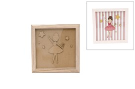 FRAME WITH BALLET DANCER 23.5X23.5X1.6CM