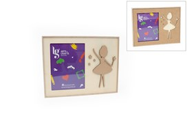 FRAME 15/20 32X24X3.5CM W/PLAQUE BALLET DANCER
