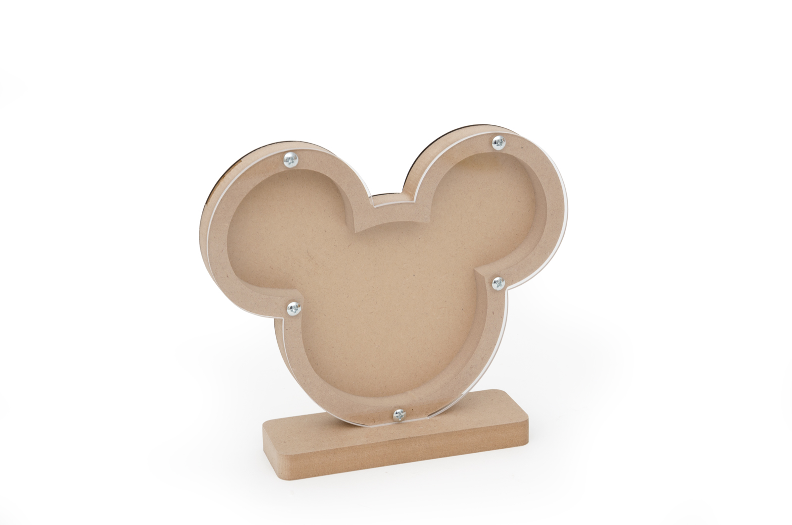 FRAME MONEYBOX MOUSE BOY 20.8X18X1.6CM MDF WITH BASE