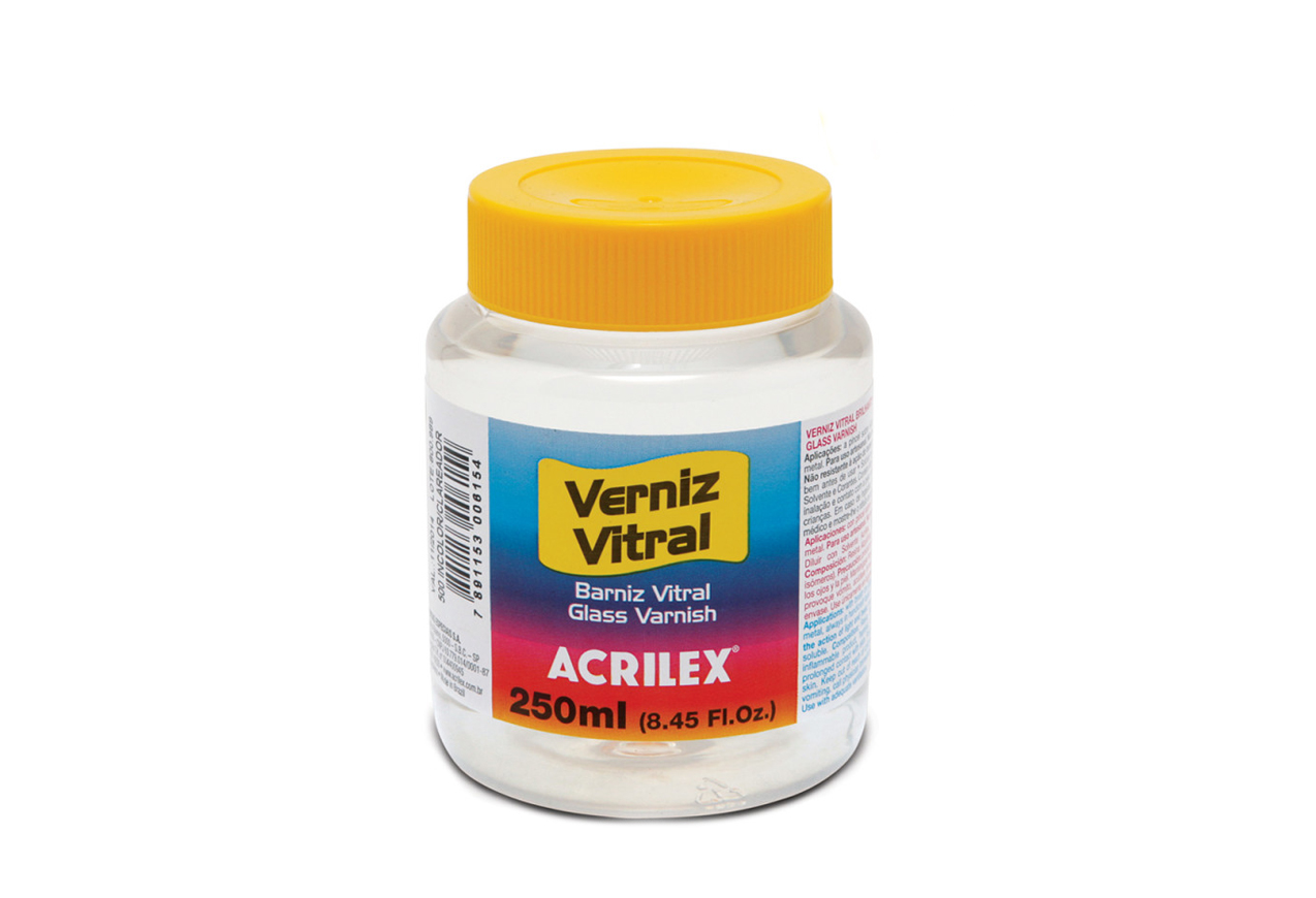 VERNIZ VITRAL 250ML INCOLOR 08125500 ACRILEX