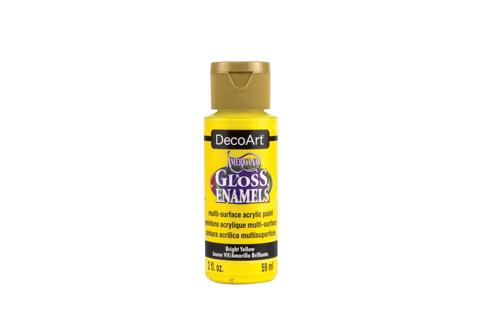 PAINT 59ML DAG227 BRIGHT YELLOW GLOSS ENAMELS AMERICANA