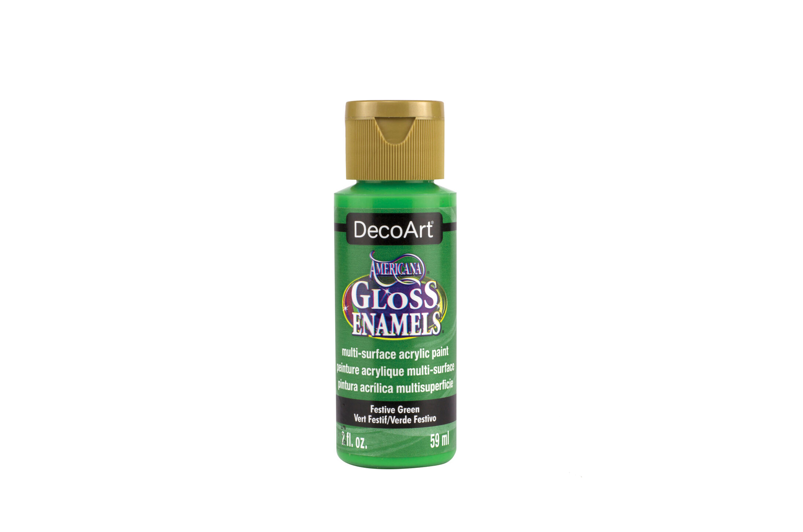PAINT 59ML DAG230 FESTIVE GREEN GLOSS ENAMELS AMERICANA