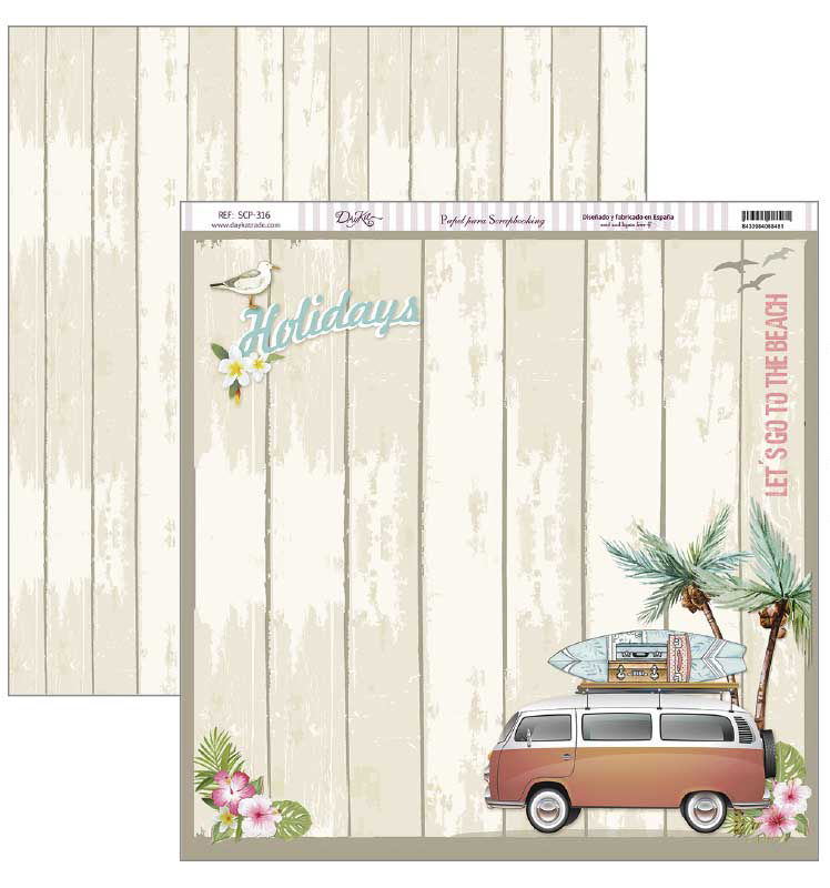 PAPEL SCRAPBOOKING 30.5X30.5CM SCP-316 HOLIDAYS