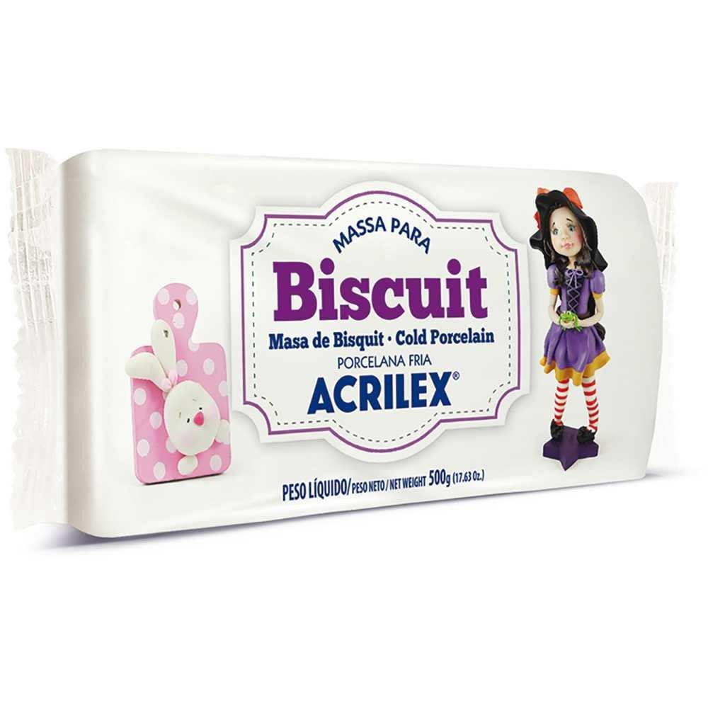 MASSA BISCUIT NATURAL 500GRS Nº987 ACRILEX