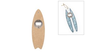 SET 6 SURFBOARDS BOTTLE OPENER 20X6.5X0.5CM MDF