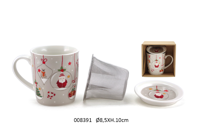 MUG+PERCOLATOR 10CM D.8.5CM 325ML CLAUS