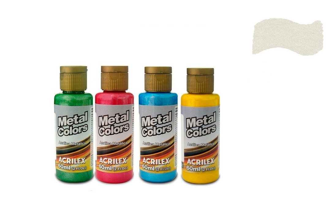 METAL COLORS 60ML  BRANCO 03660562 ACRILEX