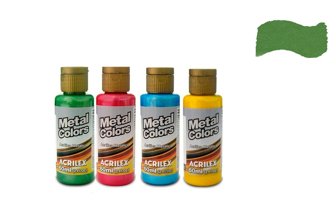 METAL COLORS 60ML VERDE MUSGO 03660513 ACRILEX