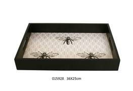 MEAL TRAY 36X25X5CM HONEY