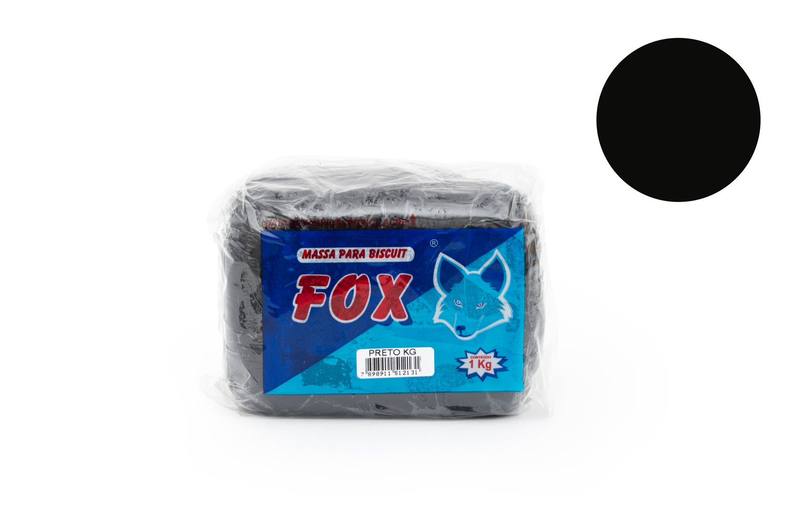 MASSA BISCUIT 1KG PRETO FOX