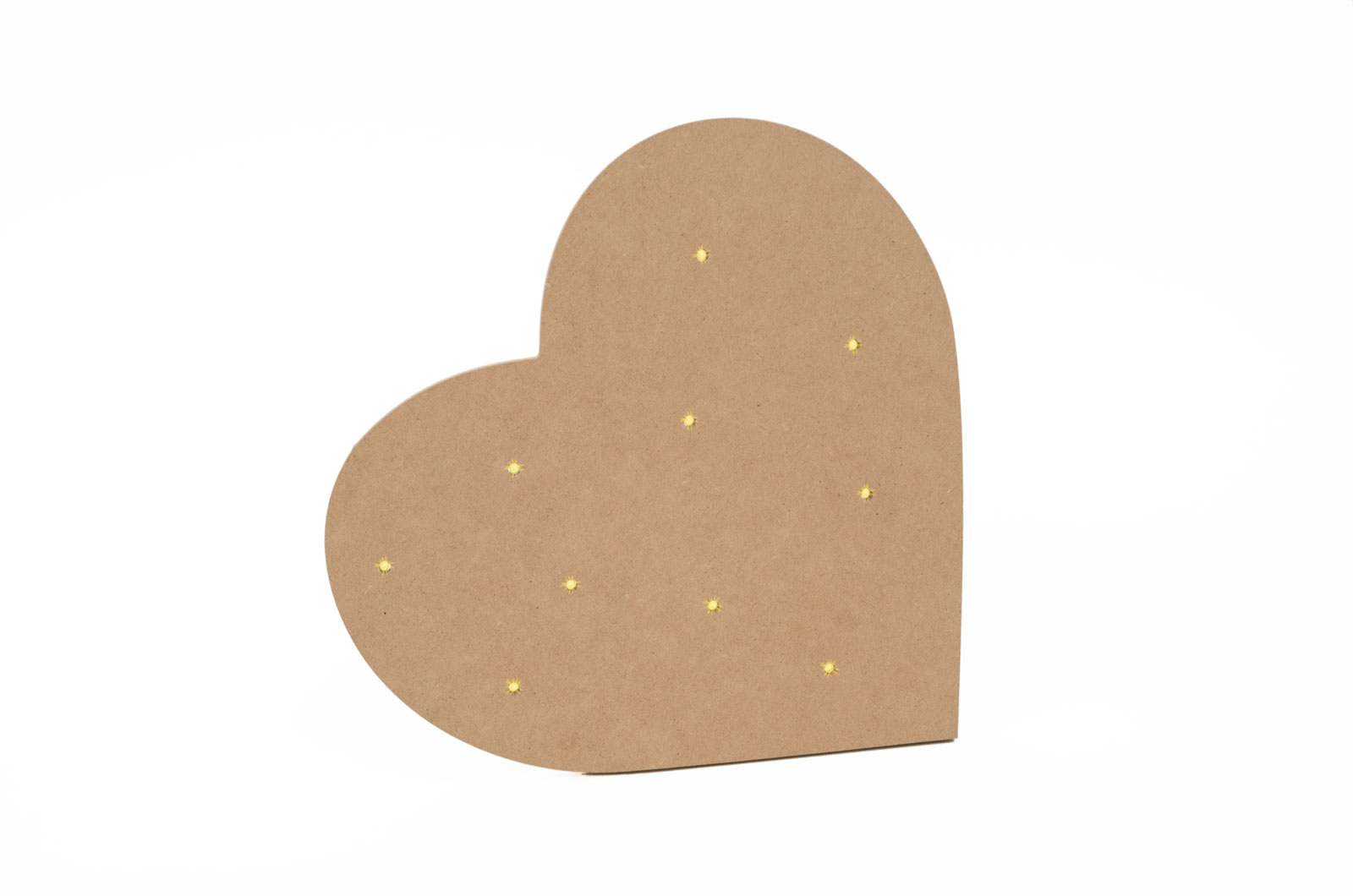 HEART WITH LED 30X30X1.2CM MDF