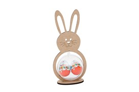 RABBIT WITH BASE 12.9X27.8X0.5CM MDF WITH ACRYLIC BALL 10CM