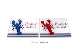 PLATE BASE 20X20CM LOBSTER /2