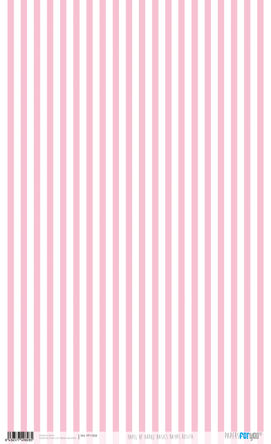 RICE PAPER 54X33CM STRIPES ROSE BABY PFY-1828