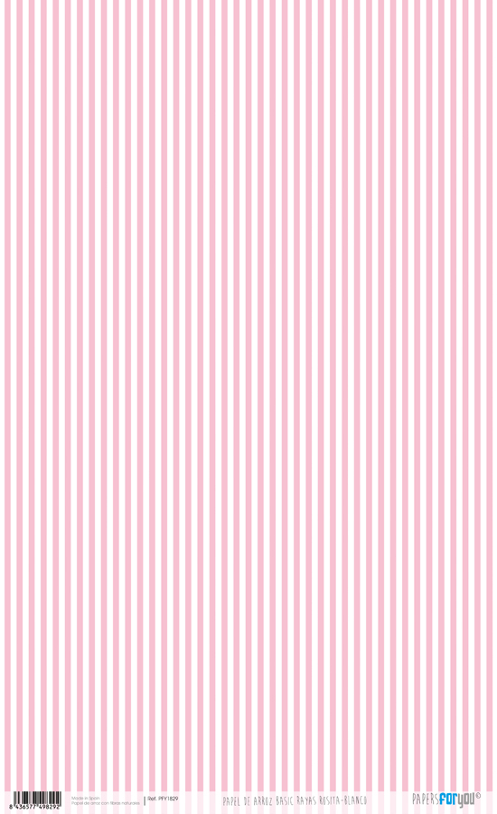 RICE PAPER 54X33CM STRIPES ROSE BABY PFY-1829