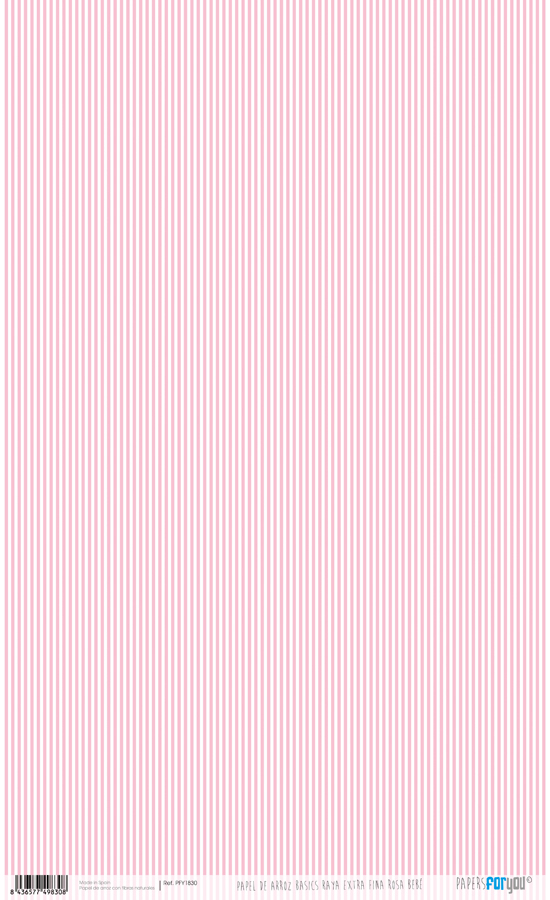 RICE PAPER 54X33CM STRIPES ROSE BABY PFY-1830
