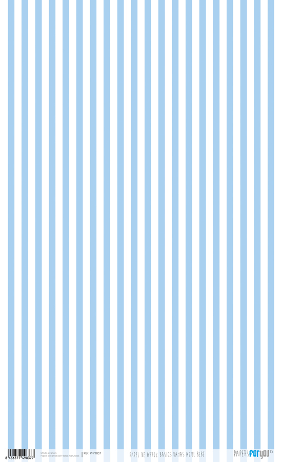 RICE PAPER 54X33CM STRIPES BLUE BABY PFY-1837