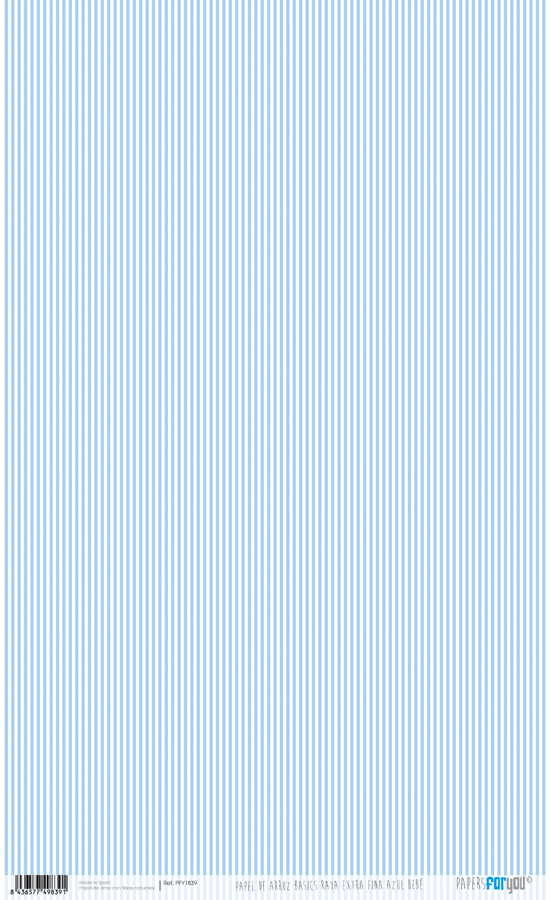 RICE PAPER 54X33CM STRIPES FINAS BLUE BABY PFY-1839