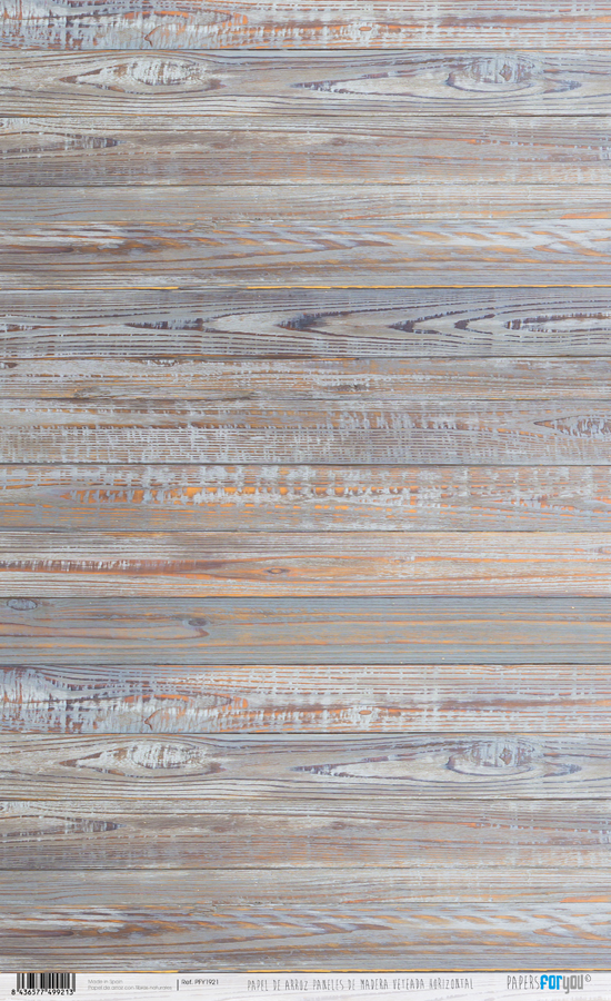 RICE PAPER 54X33CM HORIZONTAL WOOD PFY-1921