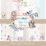 BLOCO 12 PAPEIS SCRAP 30.5X31.8CM PUPPY LOVE PFY-1528
