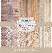 BLOCO 12 PAPEIS SCRAP 30.5X31.8CM NATURAL WOODS PFY-099