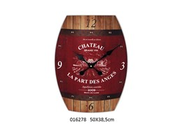CLOCK 50X38X6CM CHATEAU ROUGE