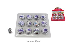SET 12 BOX MIRROR D.5CM WITH DISPLAY LAVANDE