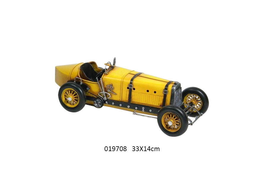 RACE CAR YELLOW 33X14X11CM