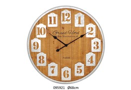 CLOCK GRAND HOTEL D.68X4.5CM NATURAL