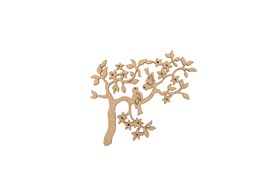 SET 4 APPLICATIONS WITH BIRD ON TREE 12X9.7X0.3CM MDF