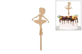 SET 4 TOPPERS BALLET DANCER 9X23.5X0.3CM MDF