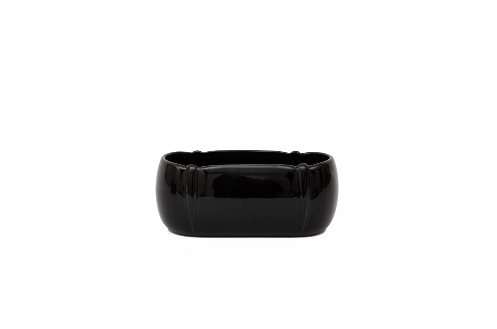 VASE OVAL 20X11X9CM PAINTED BLACK