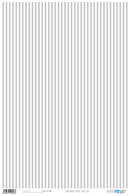CARDBOARD PAPER 32X48.3CM STRIPES GREY PFY-1046