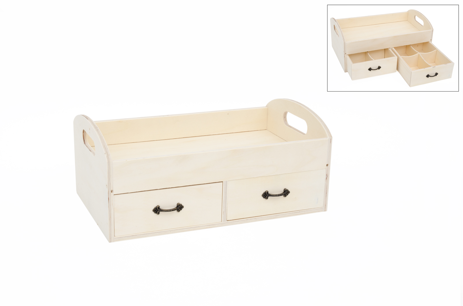 TRAY W/2 DRAWERS 35x21x15CM