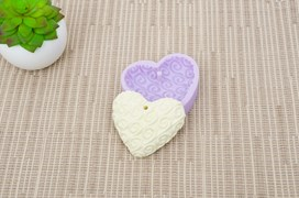 MOLD SILICONE 6.5X5.5CM MLD119  HEART5